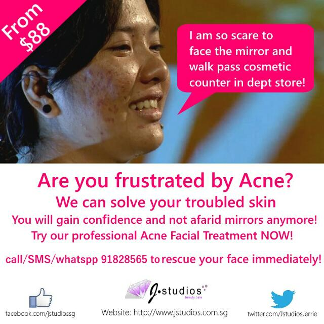Acne Pimple Facial Treatment In Jurong By Home Based Facial Studio