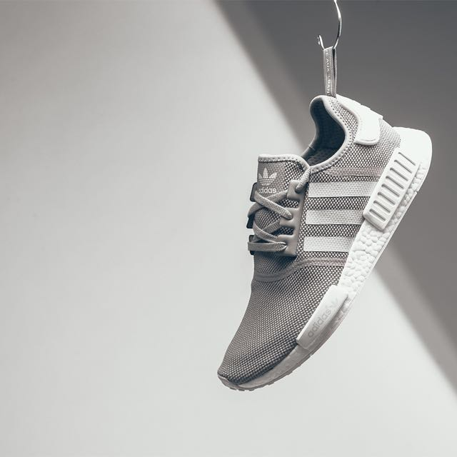 new arrival c0025 6fd86 Adidas NMD R1 J Grey / White