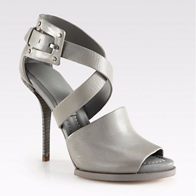 ALEXANDER WANG Delphine Leather Sandals in Grey