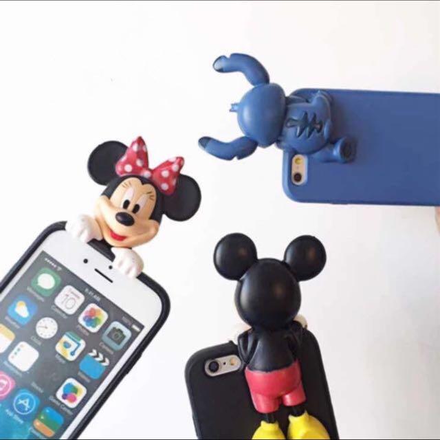 ☆Aly Look☆ (出清含郵價)i6/6S plus體造型軟殼 迪士尼 米奇 米妮 史迪奇
