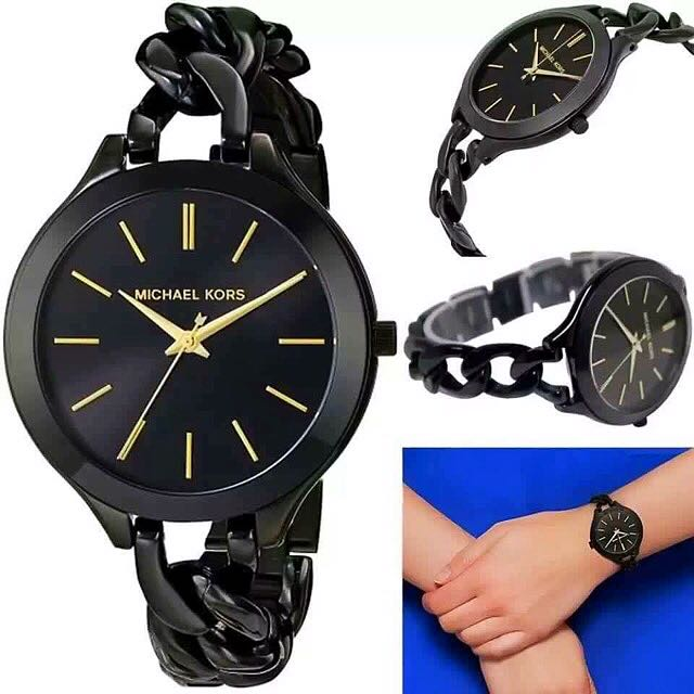 Black Twisted MK Watch (sale)