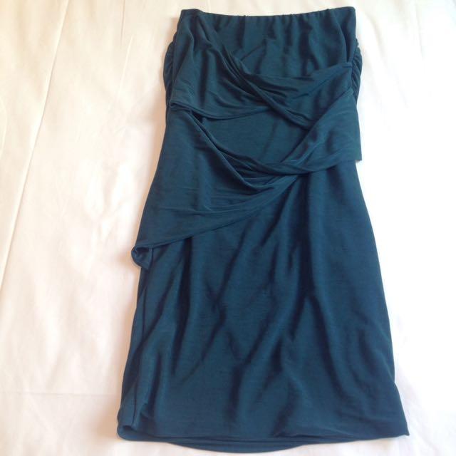 Brand New Sheikhe Emerald Green Skirt