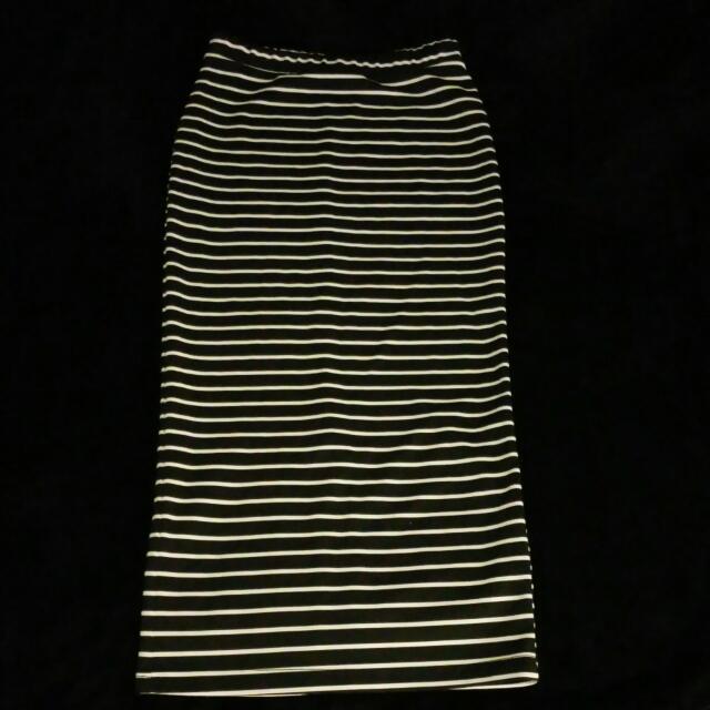 Calf Length Pencil Skirt