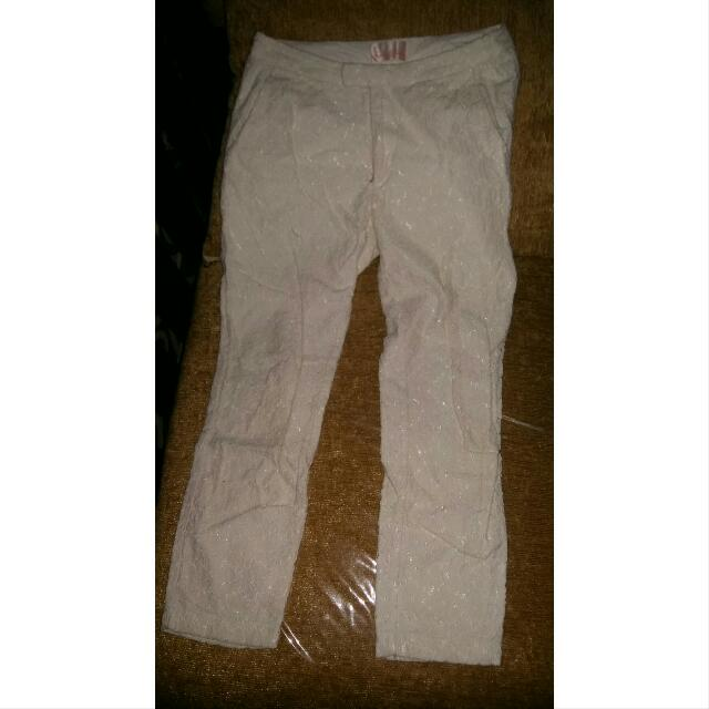 Celana Brukat Putih Import