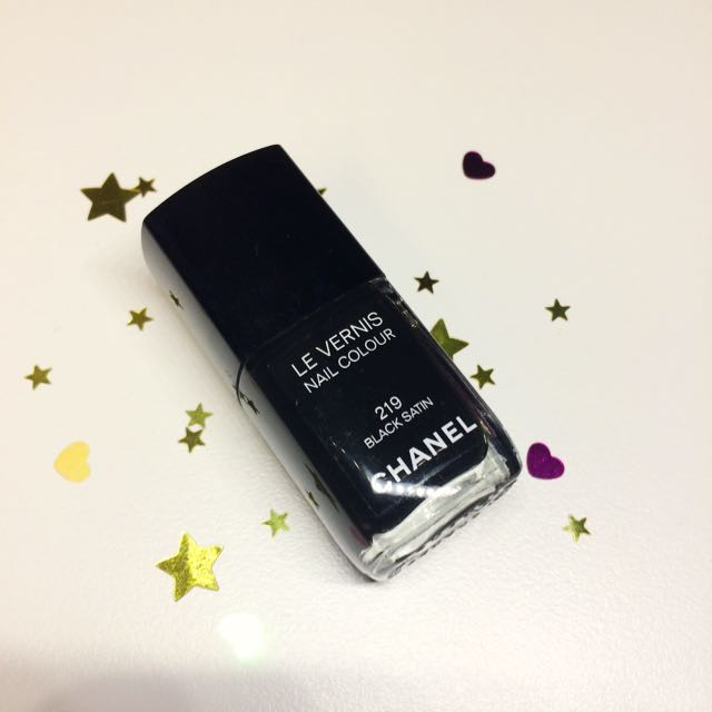 Chanel Le Vernis Nail Polish In Black Satin