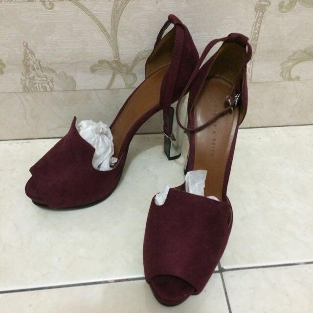 CHARLES & KEITH Maroon Heels