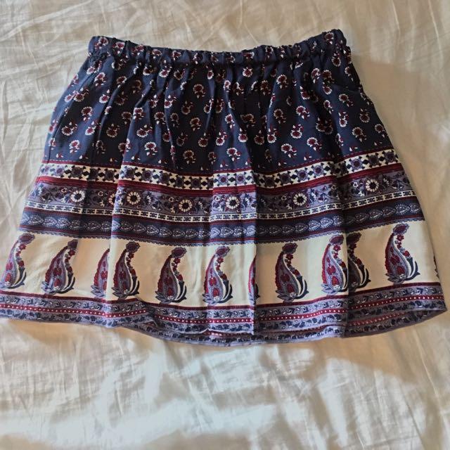 Colourful Fall Skirt