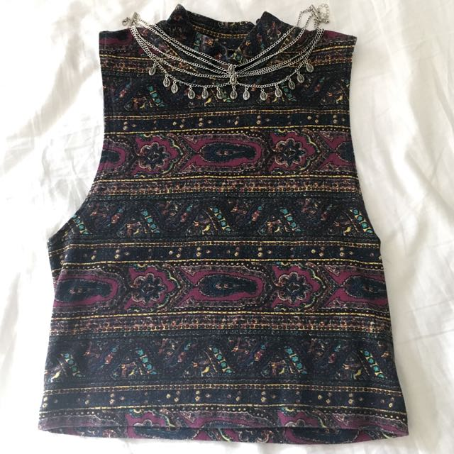 Cropped Patterned Top