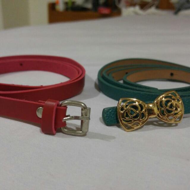 Cutie Belt Red & Green
