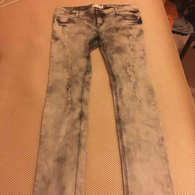 Dailo質感刷色牛仔褲