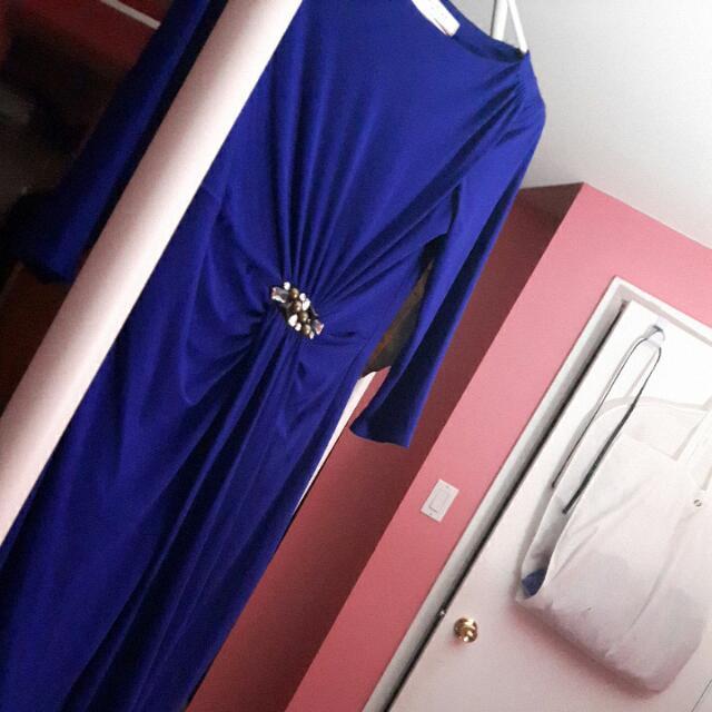 Evan Picone Blue Dress