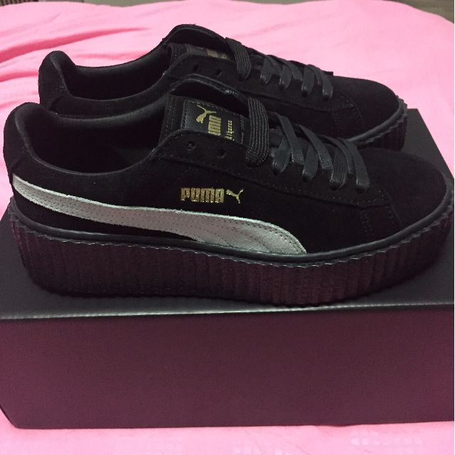 buy popular 0a86a e5c51 Fenty by Rihanna X Puma Creeper Black/White/Black. UK4/EU37. Brand New.  Authentic. Ready Stock. (RESERVED)