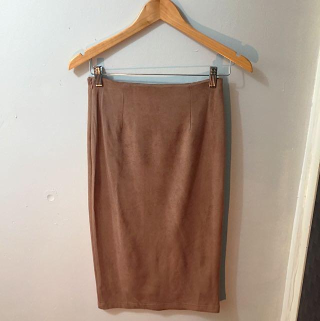 Fitted Knee Length Skirt