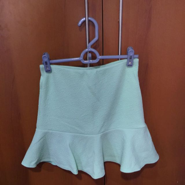 Flare Skirt In Mint Green