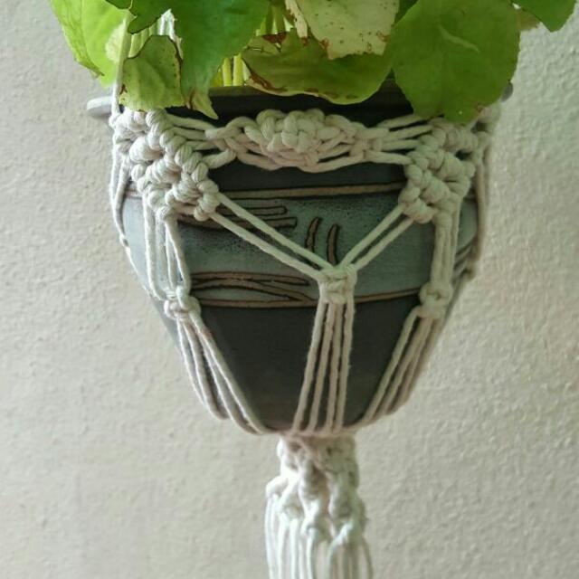 💖💖Handmade Macrame Pot Hanger - Butterfly