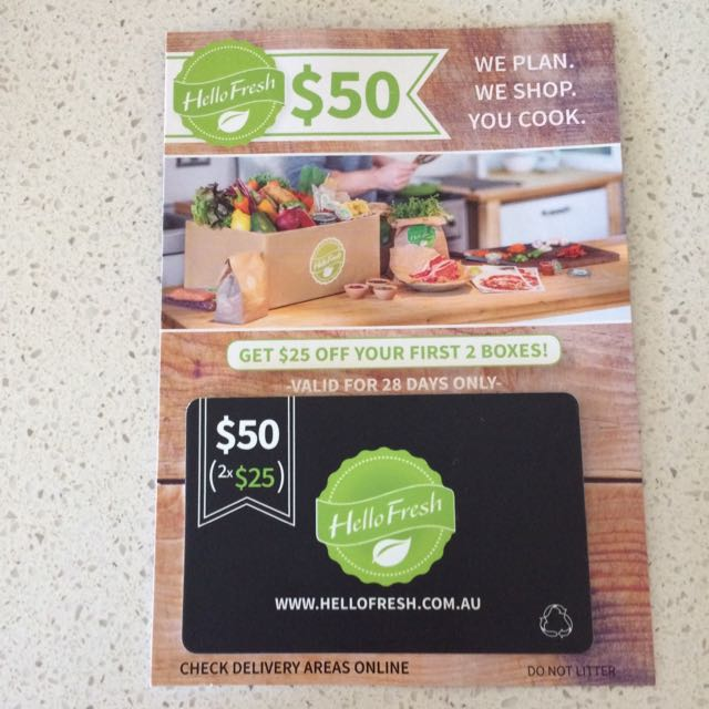 Hello Fresh $50 Gift Card / Voucher