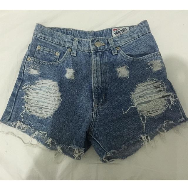 HIgh Waisted Vintage Denim Wrangler Shorts size 27