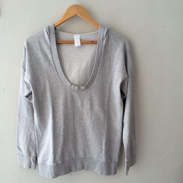 Hoodie Sweater Grey