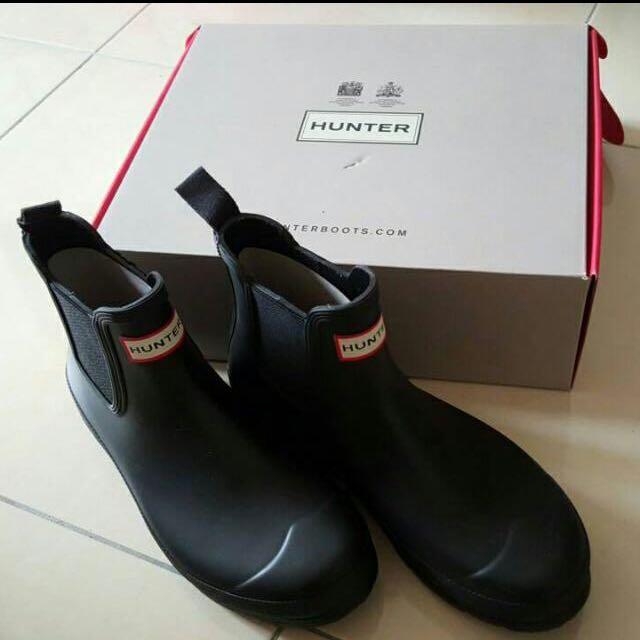 (保留)HUNTER 黑色雨靴 正品