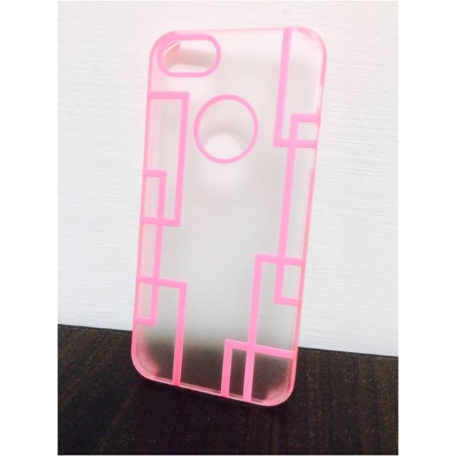 I5 5s Se 粉色線條 手機殼 霧殼 硬殼 膠殼