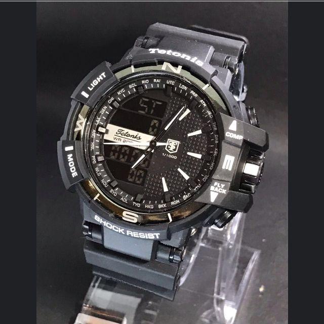 Jam Tangan Pria Tetonis Dual Time Original 09ede9ec2d