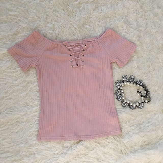 Lace Up Pink Top Bangkok