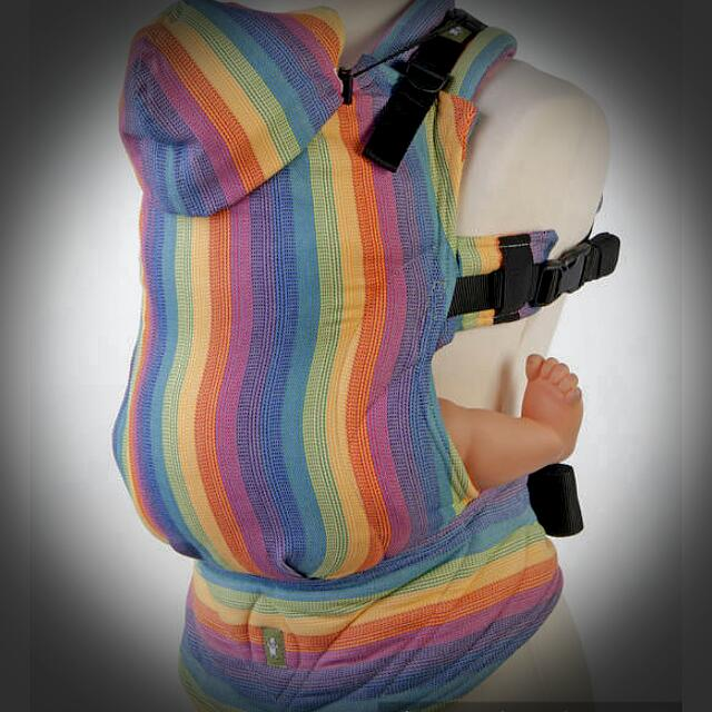 548e1291d85 Lennylamb Ergonomic Baby Carrier (Rainbow) Wrap Conversion on Carousell