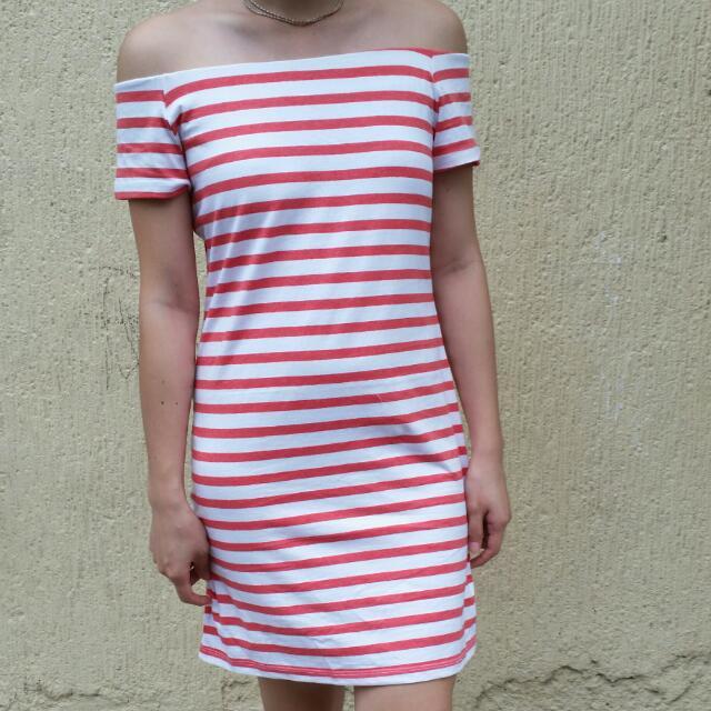Mango Basic Striped Dress