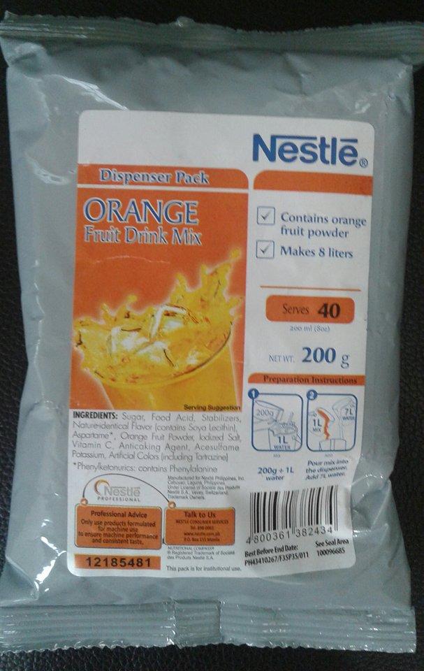 Nestle Pineapple and Orange Juice Drinks