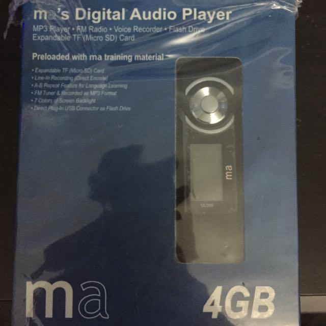 New: Open Box Ma's Digital Audio Player