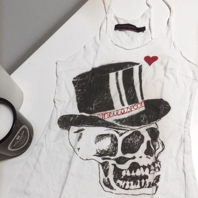 One teaspoon White Skull Singlet