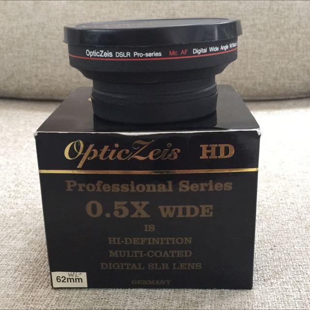 optical zeis 0.5x wide 62mm lens