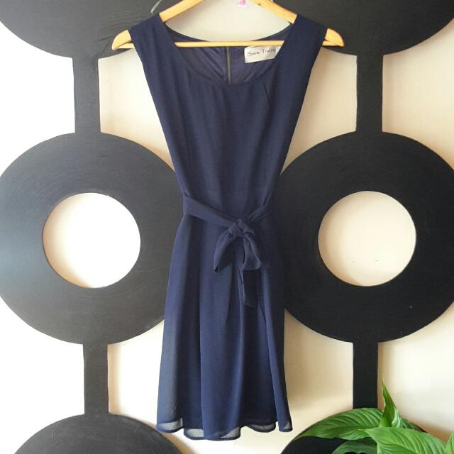 Snow Traffic Navy Dress M/L