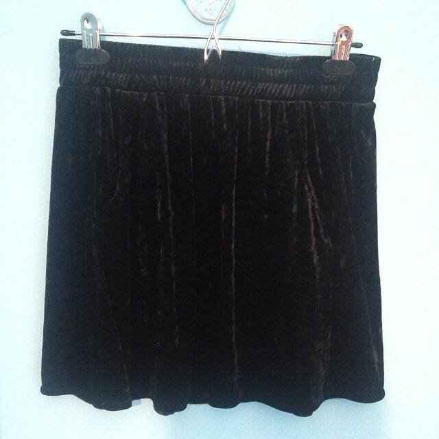 Velvet Black Skirt