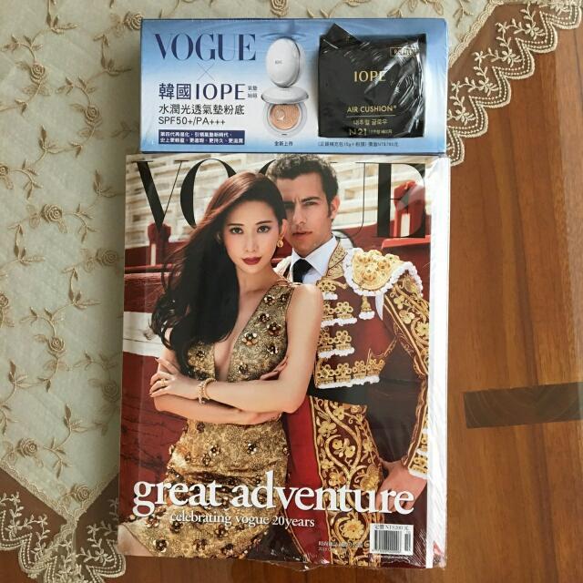 vogue雜誌+IOPE氣墊粉補充包