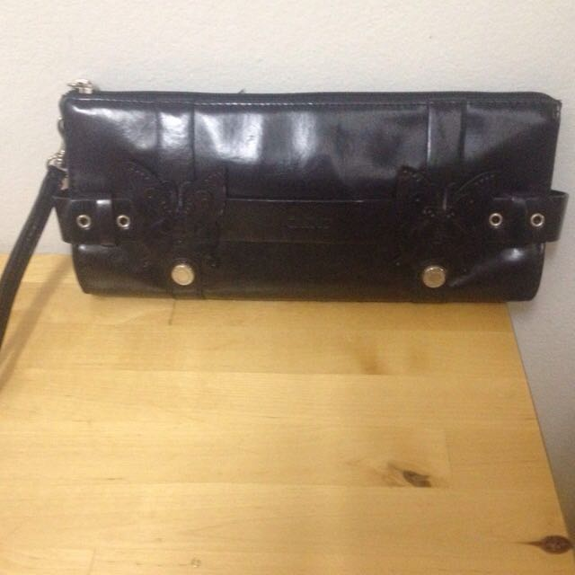 XOXO Black Leather Pouch