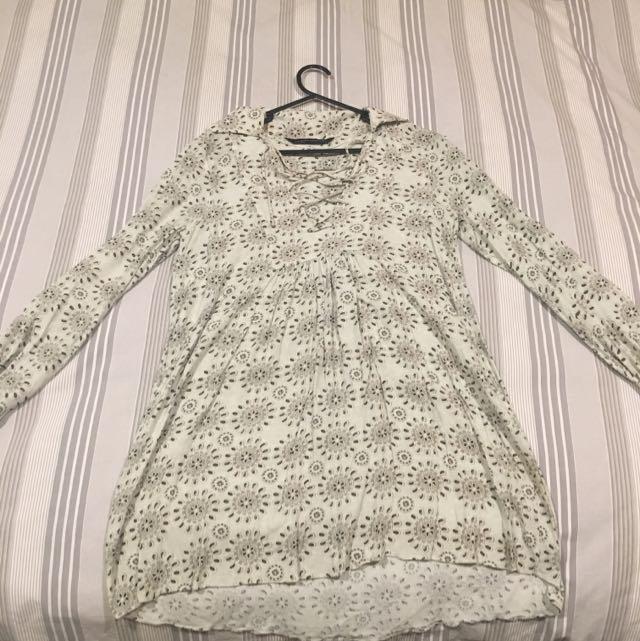 Zara Long Sleeve Shirt Dress
