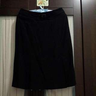 TheMe   黑色高級毛料裙34 號