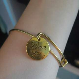 Gold I Love You Bracelet