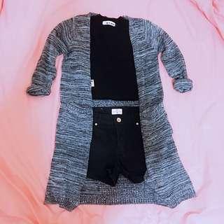 近全新✨針織長版罩衫