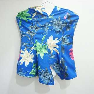 Floral Wired Tube Top