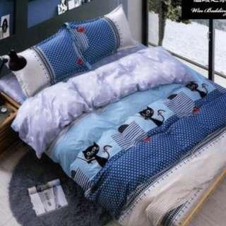 貓咪法蘭絨床包組/溫暖之家/7尺 king size