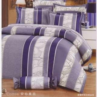 MIT純棉台製床包組/紫色四件組