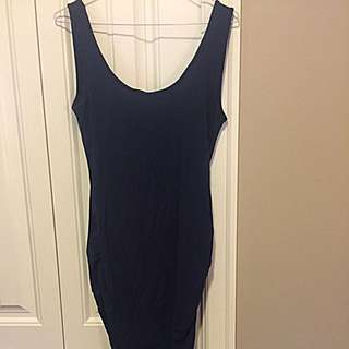 Navy Blue Maternity Dress, Medium