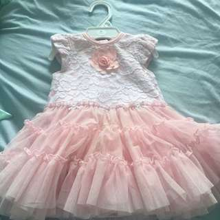 12m Pink Lace And Tulle Party Dress