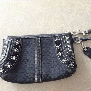 Black Coach Clutch/wristlet