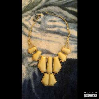 A Gorgeous Cream And Gold Statement Necklace