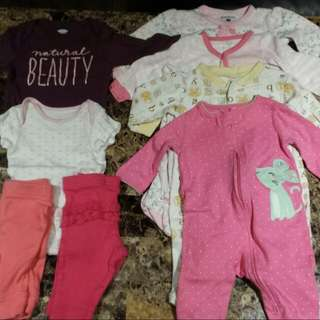 8 Pieces 0-3M Girls Clothing