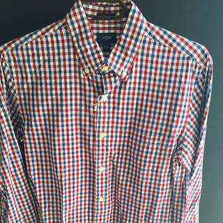 Men's (Small) Slim Fit J.crew Shirt (100% Cotton)