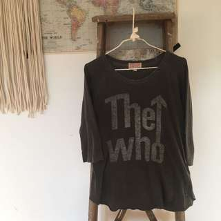 Urban Outfitters The Who 3/4 Length Sleeve Top